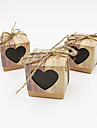 50pcs Sweet Heart Love Rustic Kraft Wedding Favors Gift Boxes Party Candy Box Wedding Decorations Party Supplies
