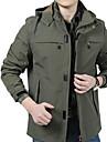 Bărbați Guler Cămașă Jachetă Zilnic Simplu,Mată Manșon Lung Primăvara/toamnă-Regular Altele