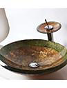 Contemporan Rotund Material chiuvetă este Sticlă securizată Chiuvetă Baie