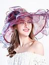 Damă Cu Dungi Primăvara/toamnă Vară Pălărie Floare Plasă din tul,Clop Floppy Palarie de soare Dungi