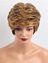 Eclats de personnalite elegante couleurs mixtes courtes perruques de cheveux humains ondules