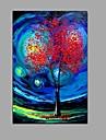 Peint a la main Paysage Panoramique Verticale,Moderne Style europeen Un Panneau Toile Peinture a l\'huile Hang-peint For Decoration