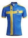 Kooplus Maillot de Cyclisme Homme Manches courtes Velo Maillot Hauts/Tops Zip etanche Zip frontal Vestimentaire Respirable 100 % Polyester
