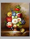 Pictat manual Floral/Botanic Vertical,Floare Retro Un Panou Canava Hang-pictate pictură în ulei For Pagina de decorare