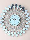Moderne/Contemporain Fleurs / Botaniques Vacances Inspire Famille Amis Dessin anime Horloge murale,Rond Nouveaute Acrylique Metal