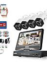 Sannce® 4ch 4pcs 720p dvr (cu lcd) sistem de supraveghere la domiciliu de supraveghere la domiciliu fără hdd