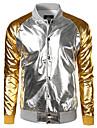 Bărbați Guler Cămașă Jachetă Casul/Zilnic Simplu,Bloc Culoare Manșon Lung Primăvară Toamnă-Regular Poliester
