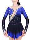 Robe de Patinage Femme Fille Manches Longues Patinage Jupes & Robes Robes Haute elasticite Robe de patinage artistique Garder au chaud
