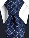 Bărbați Carouri Toate Sezoanele Vintage Petrecere Birou Casual Birou / Afacere Calitate superioară Modă Mătase,Cravată