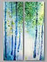 Pictat manual Abstract Abstract Modern Două Panouri Canava Hang-pictate pictură în ulei For Pagina de decorare