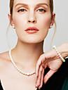 Pentru femei Seturi de bijuterii Brățări cu Lanț & Legături Toroane Coliere Κολιέ με Πέρλες Circle Shape BijuteriiPerle Diamante