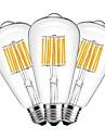 10W Bec Filet LED ST64 10 COB 1000 lm Alb Cald Decorativ AC 220-240 V 3 bc