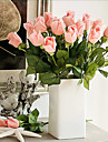 5 Gren PU Verklig beröring Roser Bordsblomma Konstgjorda blommor