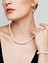 Pentru femei Seturi de bijuterii Colier / cercei Toroane Coliere Elegant de Mireasă Perle Circle Shape Σκουλαρίκια Lănțișor Brățară Pentru