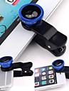Universellt 3in1-klämma på kamera lins kit vidvinkel fiskögon makro för smart telefon
