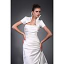 krátké rukávy taft satén svatební bunda / svatební zábal (wsm0417)