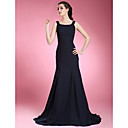 Lanting Bride® Trumpet / Mermaid Plus Size / Petite Mother of the Bride Dress Sweep / Brush Train Sleeveless Chiffon with