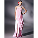 Prom/Military Ball/Formal Evening Dress - Blushing Pink Plus Sizes Sheath/Column One Shoulder Floor-length Chiffon/Charmeuse