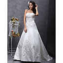 Lanting Bride® A-kroj / Princeza Sitna / Veći brojevi Vjenčanica - Klasično i svevremensko / Elegantno i luksuzno Jako kratki šlepBez