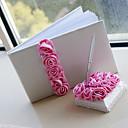 ピンクバラ飾り☆結婚式芳名帳とペンセット