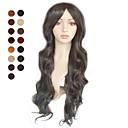 nadolijevanja duge crne valovite kose perika više boje dostupne