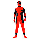 Zentai kombinézy Ninja Zentai Cosplay kostýmy Červená Patchwork Leotard/Kostýmový overal / Zentai elastan UnisexHalloween / Vánoce /