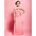 Lanting Bride® Na zem Šifón Šaty pro malou družičku Pouzdrové Kopeček Přirozený s Mašle / Sklady
