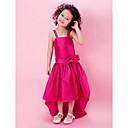 Lanting nevjesta ® a-linije / princeza koljena cvijet girl haljina - trake taft rukava s lukom (i) / cvijet (i) / krila / vrpce