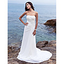Lanting Bride® Kroj uz tijelo Sitna / Veći brojevi Vjenčanica - Klasično i svevremensko / Elegantno i luksuzno Dugi šlep Bez naramenica