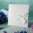 白エンボス春の花の結婚式の招待状(50個セット)