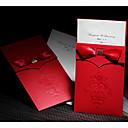 Non-personalizaton Zamotajte & Pocket Vjenčanje Pozivnice Pozivnice-50 Piece / Set Formalno Style / Classic Style / Moderna Reljefni papir