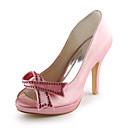 Stiletto peta satena peep toe / pumpe s bižuterija ručno izrađene stranačkih večernjim cipelama (više boja dostupno)