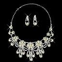 Elegantní perlové klasický styl dámy náhrdelník a náušnice šperky set (45 cm)