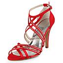 svila stiletto peta sandale s Rhinestone vjenčanje cipele (više boja dostupnih)