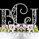 Figurky na svatební dort Monogram / Klasický pár Svatba / Párty pro nevěstu / 15. narozeniny a sladkých 16 / Výročí / Narozeninyimitace