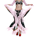 dancewear šifona s naborima performansi suknju trbušni ples za dame više boja