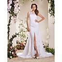 Lanting Bride® A-Linie / Princess Drobná / Nadměrné velikosti Svatební šaty - Elegantní & luxusní Extra dlouhá vlečka Do V Krajka s