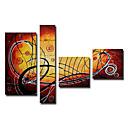 Ručně malované Abstraktní Čtyři panely Plátno Hang-malované olejomalba For Home dekorace