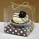 Lovely Brown Cupcake Box - Set Of 12