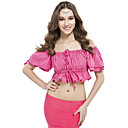 Belly Dance Tops Women's Training Linen Pleated 1 Piece Black / Blue / Fuchsia / Pink / Purple / Red / White / Yellow Belly DanceSpring /