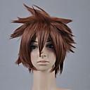 Cosplay Wigs Kingdom Hearts Sora Smeđa Short Anime / Video Igre Cosplay Wigs 30 CM Otporna na toplinu vlakna Male
