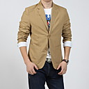 Men's Solid Casual Blazer Long Sleeve Black / Beige