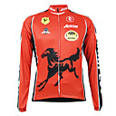 Kooplus Quick Dry Men's Long Sleeve Cycling Jersey (Red Horse)