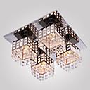 Flush Mount ,  Modern/Comtemporary Electroplated svojstvo for Crystal Metal Living Room Bedroom Hallway
