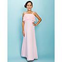 Lanting Bride® Do poda Šifon Haljina za malu djeverušu A-kroj / Kroj uz tijelo Tanke naramenice Prirodni struk s Slojevi