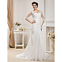 Lanting Bride® Sirena kroj Sitna / Veći brojevi Vjenčanica - Klasično i svevremensko / Elegantno i luksuzno Proljeće 2013 Dugi šlepDuboki
