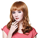 Capless Top Quality 100% Human Hair Fashion Golden Blonde Long Wig