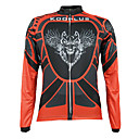 KOOPLUS Men's Cycling Tops / Jerseys Long Sleeve Bike Autumn Thermal / Warm / Breathable / Quick Dry / Front Zipper / Wearable RedS / M /