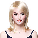 Capless Long Straight Gloden Wig Side Bang