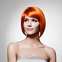 bez krytky bradu délka syntetické oranžové bob styl vlasy paruka